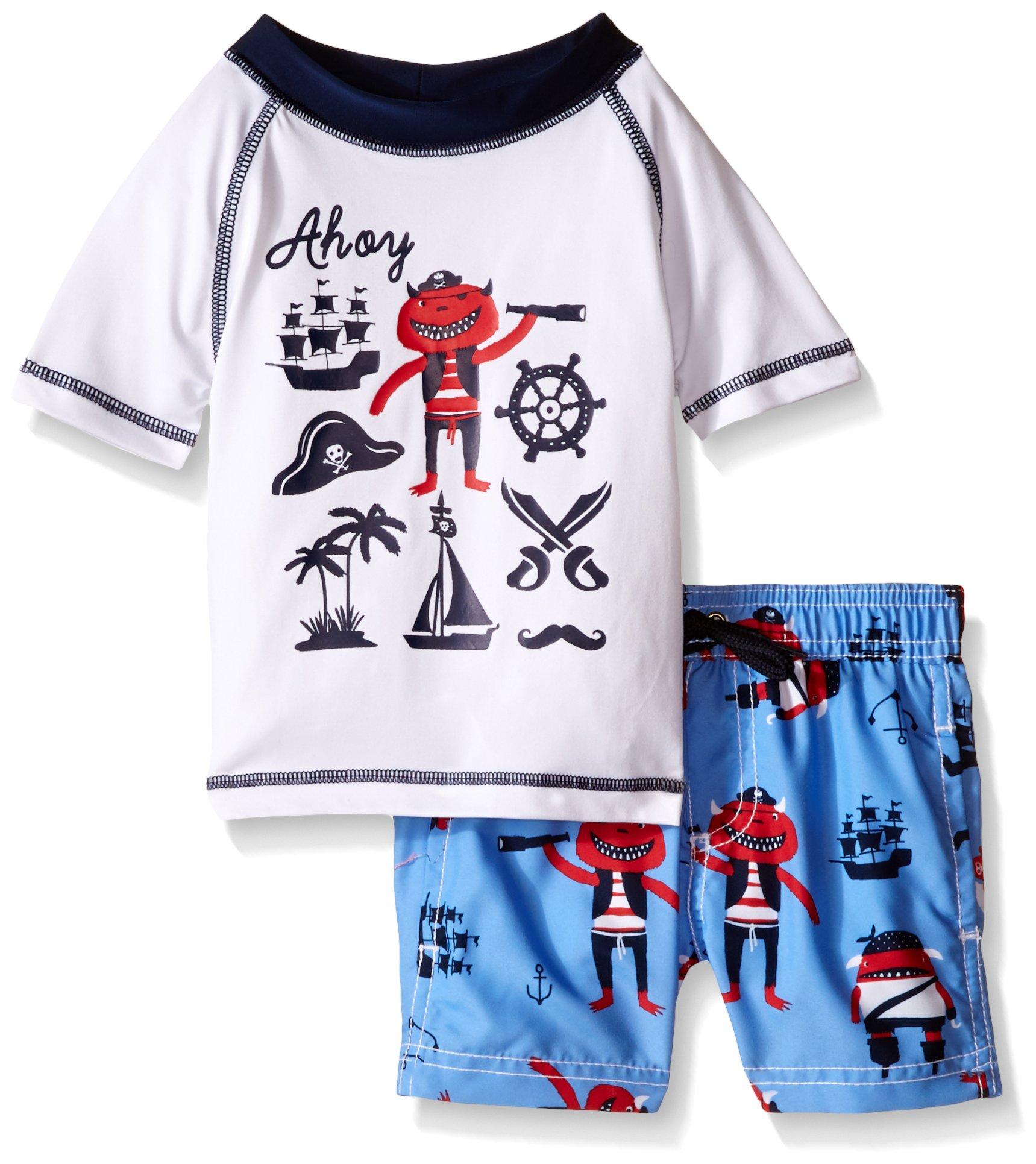 Carter's Baby Boys' Short Sleeve Rash Guard Set