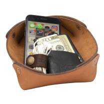 Alta Andina Leather Valet Tray | Catchall & Organizer (Brown – Miel)