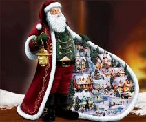 EOBROMD 5D DIY Diamond Painting by Number Kits, Embroidery Painting Wall Sticker for Wall Decor - Full Drill Santa Claus (12 x 16inch)