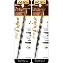 L'Oreal Paris Makeup Brow Stylist Definer Waterproof Eyebrow Pencil, Ultra-Fine Mechanical Pencil, Draws Tiny Brow Hairs & Fills in Sparse Areas & Gaps, Blonde, 0.003 Ounce (Pack of 2)