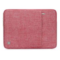 "NIDOO 12.5-13.3 Inch Laptop Sleeve Case Water Resistant Protective Cover Notebook Bag for 12.9"" iPad Pro 2016 2017/13"" MacBook Pro / 13.5"" Surface Laptop 2/13.3"" Asus ZenBook 13/13 UX331UN, Red"
