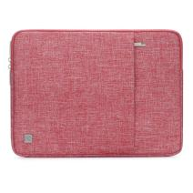 """NIDOO 11 Inch Laptop Sleeve Case Water Resistant Bag Portable for 12.9"""" New iPad Pro 2018/13"""" MacBook Air 2018-2020/13"""" MacBook Pro 2016-2018/12.3"""" Surface Pro 6 7 4/13"""" Surface Pro X, Red"""