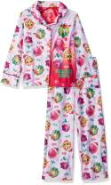 Shopkins Girls' 2-Piece Button Front Pajama Set