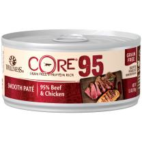 Wellness Core 95% Natural Grain Free Wet Canned Cat Food, 5.5-Ounce (Pack Of 12)