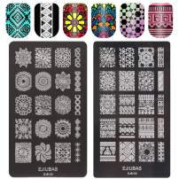 Ejiubas Nail Stamping Plates Nail Art Stamping Kit Mysterious Mandala Nail Stamp Image Template Double-sided 1 Count 2 Sides EJB-06