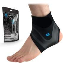 BLUE PINE Ankle Support Adjustable Lightweight Ankle Brace Breathable Material Ankle Sleeve for Men and Women (Pair, Medium)