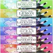 Mosfantal Premium Hand Dipped Incense Sticks - Lemon, Jasmine, Lavender, Sandalwood , Ocean , Romance Variety Gift Pack (240Gram)