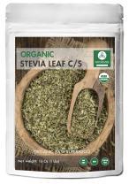 Naturevibe Botanicals Organic Stevia Leaves Whole 16 oz (1lb) Cut and Sift, Bulk tea Loose Leaf
