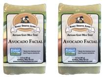 Premium Handcrafted Artisan Goat Milk Avocado Facial Soap Bar - FEELS SO WONDERFUL on your skin that 4 out of 5 customers come back! (Pack of 2)