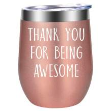 Thank You Gifts, Gifts for Women - Funny Friendship, Thoughtful, Inspirational, Birthday Gifts for Women, Friends Female, Coworkers - Boss, Employee, Teacher Appreciation Gifts - LEADO Wine Tumbler
