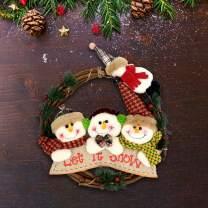 HARBORII Christmas Decoration Merry Christmas Wreath Cute Wreath Christmas Wreath (Christmas)