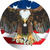 TIRE COVER CENTRAL Flying Eagle with American Flag Tire Cover (Select tire Size/Back up Camera in MENU) Custom Sized to Any Make/Model(255/70r18 Centered Backup Camera)