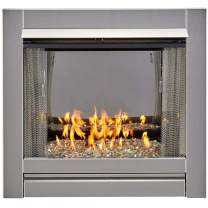 Bluegrass BL450SS-G Vent-Free Stainless Outdoor Gas Fireplace, Crystal