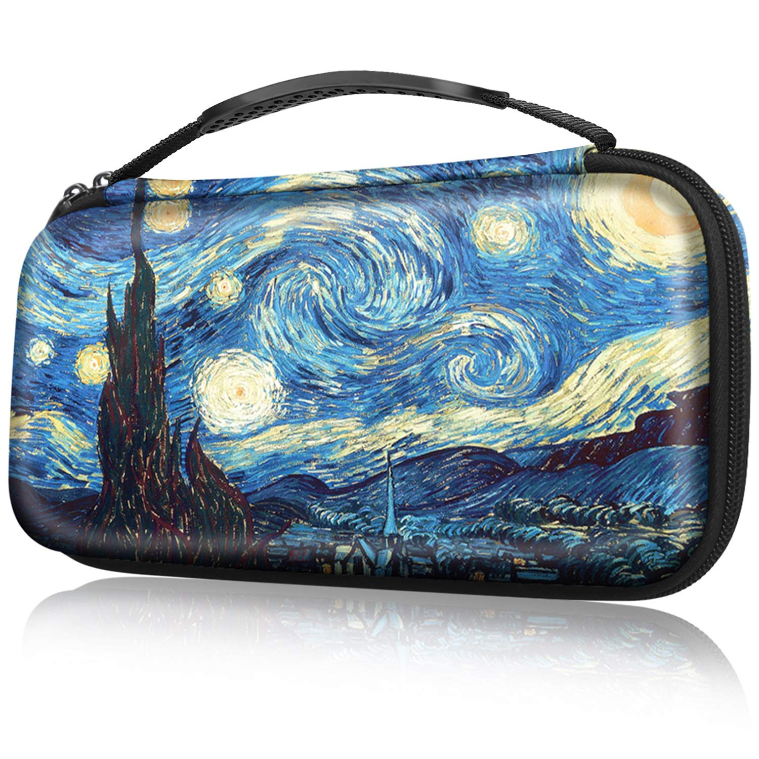 Fintie Carry Case for Nintendo Switch - Portable Traveler Protective Cover Storage Carrying Bag Pouch with 10 Game Card Slots and Inner Pocket for Nintendo Switch Console Joy-Con, Starry Night