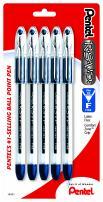 Pentel R.S.V.P. Ballpoint Pen, Fine Line, Blue Ink, 5 Pack (BK90BP5C)