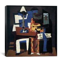 "iCanvasART Three Musicians Canvas Print by Pablo Picasso, 12"" x 12"""