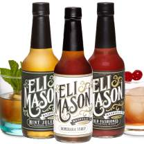 Eli Mason Cocktail Mixer Set - Mint Julep, Demerara & Old Fashioned Cocktail Mix - Real Cane Sugar & Proprietary Blend Of Cocktail Bitters Set - Cocktail Syrup Variety Pack - 10 Ounces, Pack of 3