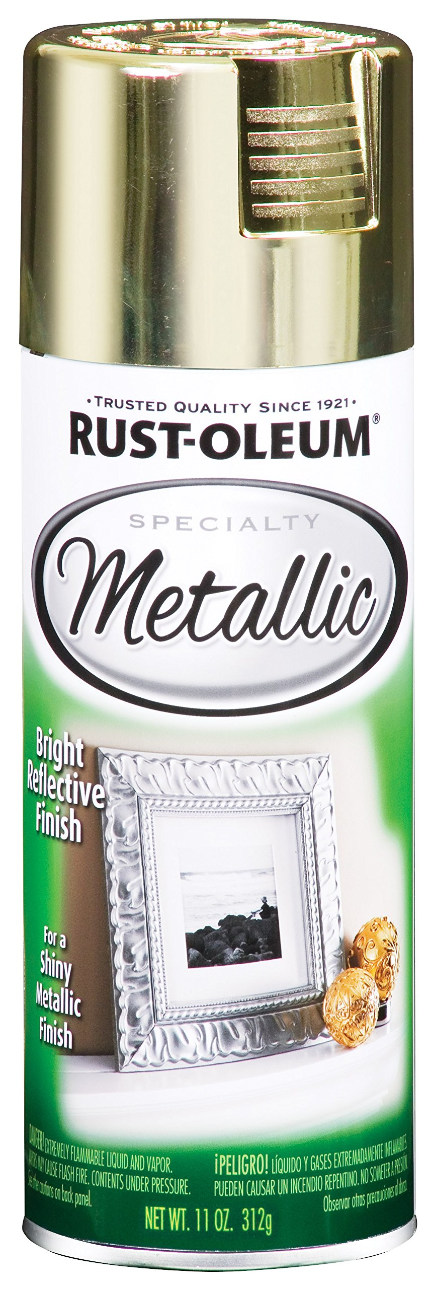 Rust-Oleum 1936830-6 PK Specialty Metallic 1936830 Spray Paint 11 oz, Brass, 6-Pack, 6 Pack