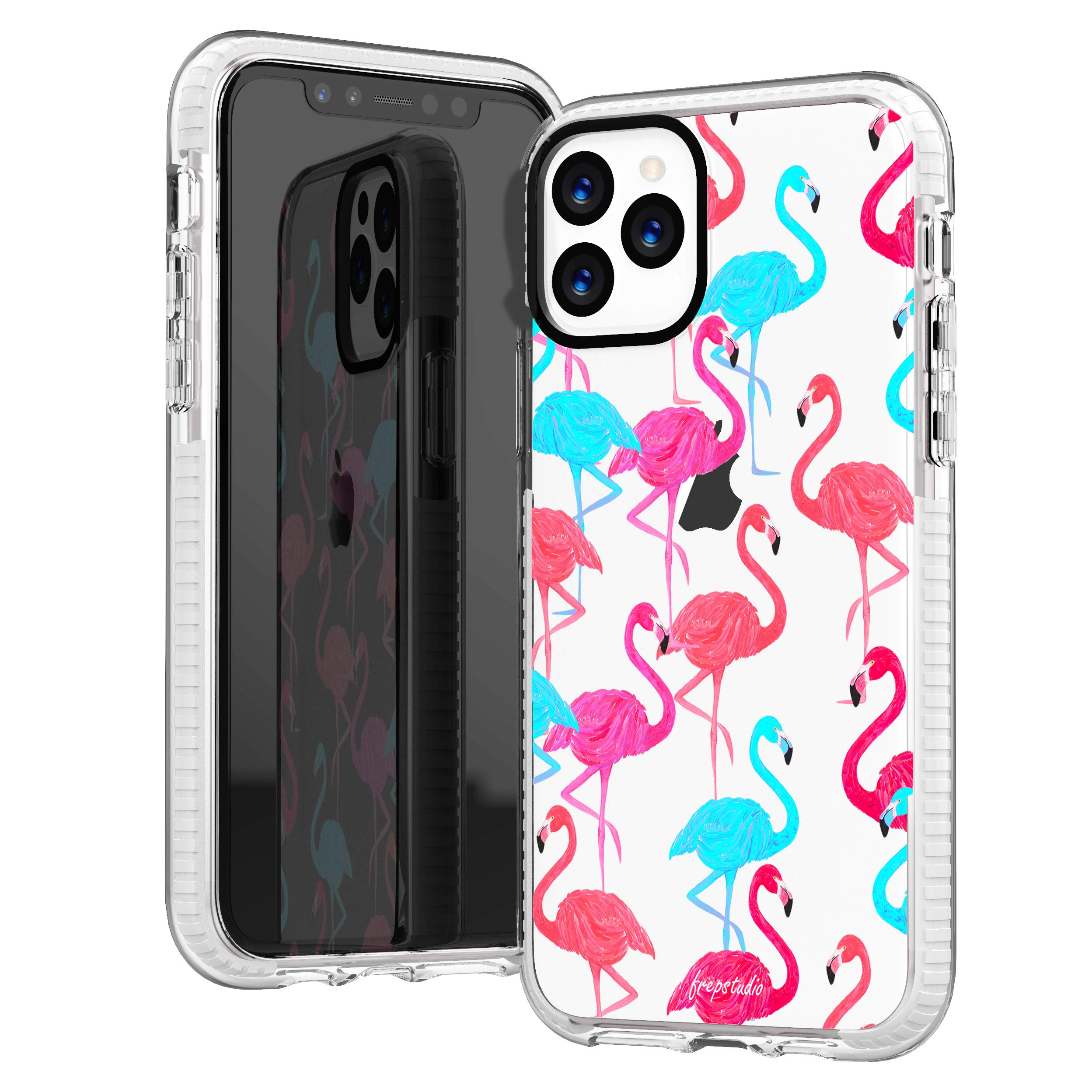 iPhone 11 Pro Clear Case,Aloha Summer Cute Tropical Pink Trendy Flamingos Birds Hawaii Beach Girls Women Cute Colorful Trendy Hipster Soft Protective Clear Design Case Compatible for iPhone 11 Pro
