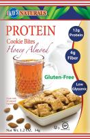 Kay's Naturals Protein Cookie Bites, Honey Almond, Gluten-Free, Low Fat, Diabetes Friendly, All Natural Flavorings, 1.2 Ounce (Pack of 6)