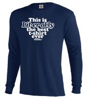 NBC Parks and Recreation Literally Men's Long Sleeve T-Shirt