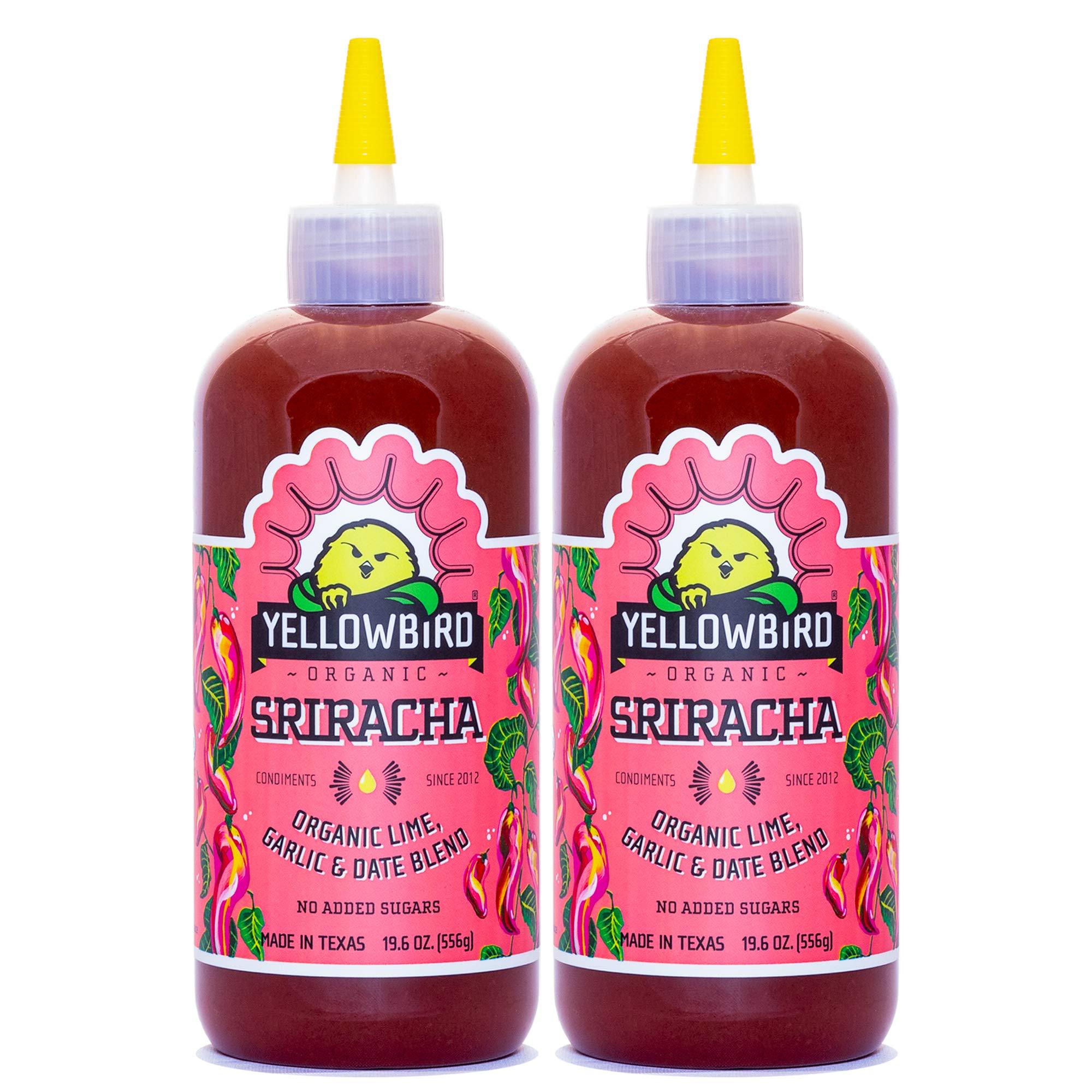 Organic Sriracha by Yellowbird Foods, All Natural, Non-GMO, 19.6 oz bottle, 2-Pack