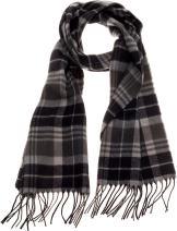 SilverHooks Soft & Warm Plaid Cashmere Scarf w/Gift Box