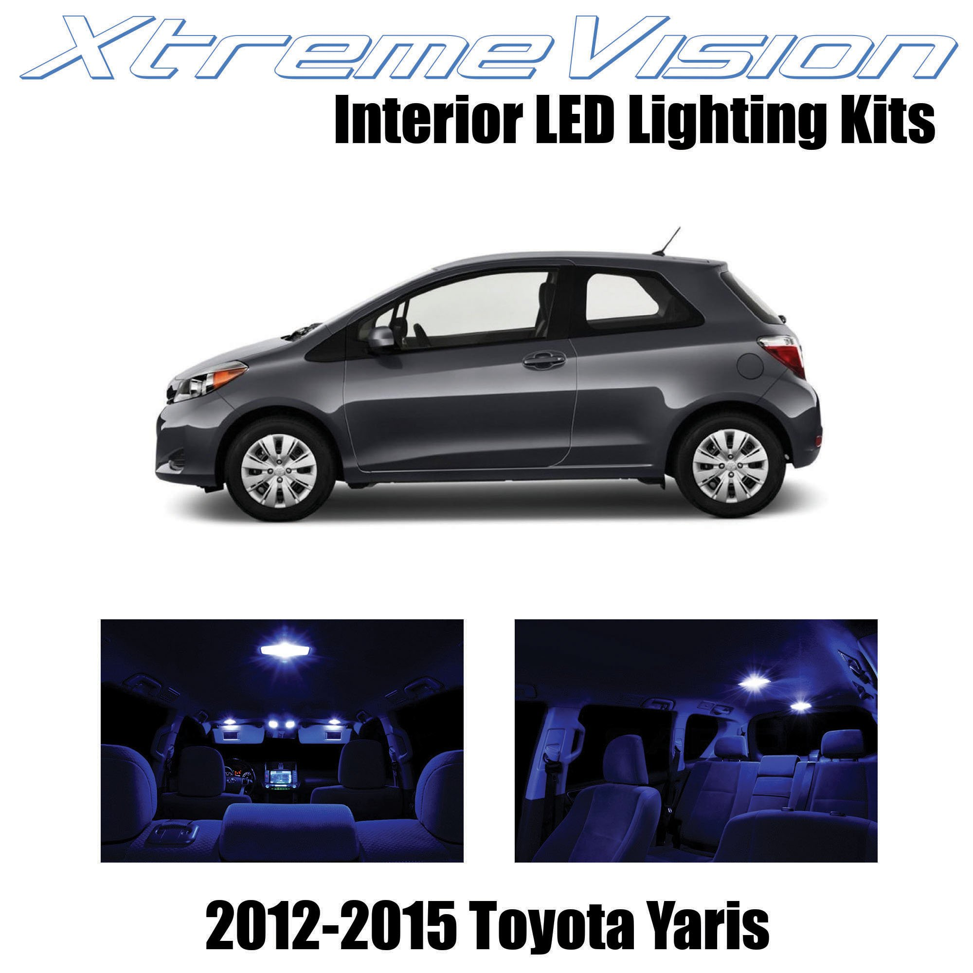 XtremeVision Interior LED for Toyota Yaris 2012-2015 (6 Pieces) Blue Interior LED Kit + Installation Tool