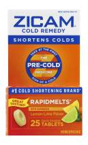 Zicam Cold Remedy Rapidmelts, Lemon-Lime with Echinacea, 25 Quick-Dissolve Tablets, 25 Count (Pack of 1)