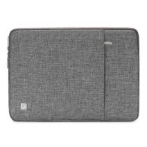 """NIDOO 15 Inch Laptop Sleeve Case Water-Resistant Protective Computer Cover Portable Notebook Carrying Bag Pouch for 15"""" MacBook Pro / 16"""" MacBook Pro/ 15"""" Surface Book 3/15"""" HUAWEI MateBook D 15, Grey"""