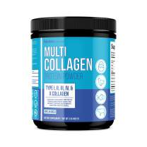 MAV Nutrition Multi Collagen Powder, Blend of Grass-Fed Beef, Chicken, Fish Peptides, Unflavored, 16oz