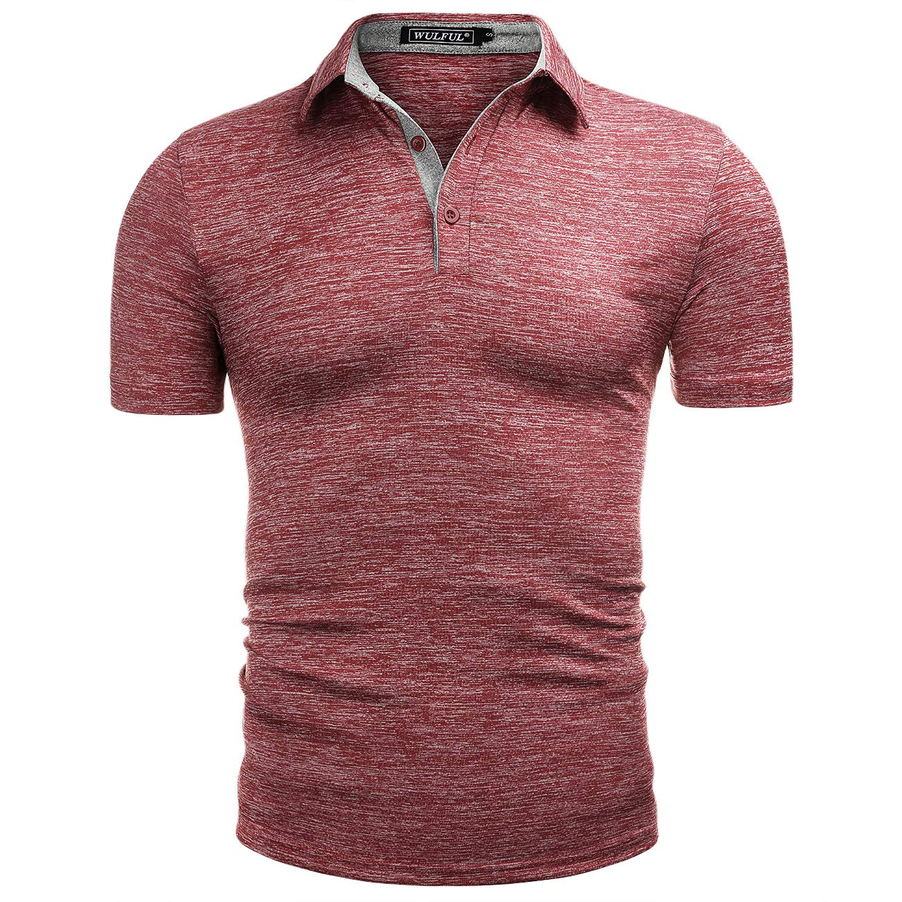 WULFUL Men's Polo Shirt Short Sleeve Quick Dry Golf Shirt Athletic T-Shirts