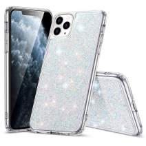 ESR Glitter Crystal Designed for iPhone 11 Pro Case, Glamour Series Sparkling Crystal Cover [Flexible TPU Frame + Hard PC Back] [Supports Wireless Charging] for iPhone 11 Pro 5.8-Inch (2019), Silver