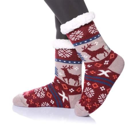Women Men Winter Indoor Warm Non-Slip Home  Fleece Thick Bed Slippers Floor Sock
