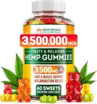 Hempbridge Hemp Gummies - Safe and Natural - Made in USA - Maximum Value in Each Gummy - Special Vitamins B & E and Omega 3, 6, 9 Blend