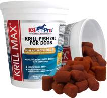 Omega 3 Fish Oil for Dogs - Pure Antarctic Krill Soft Chews Joint Supplement for Dogs Improve Skin and Coat Anti Shedding