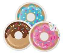 Creative Converting 322294 96 Count Sturdy Style Dessert/Small Paper Plates, Donut Time