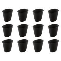 Sterilite 10119012 1.5 Gallon Oval Vanity Wastebasket, Black, 12-Pack