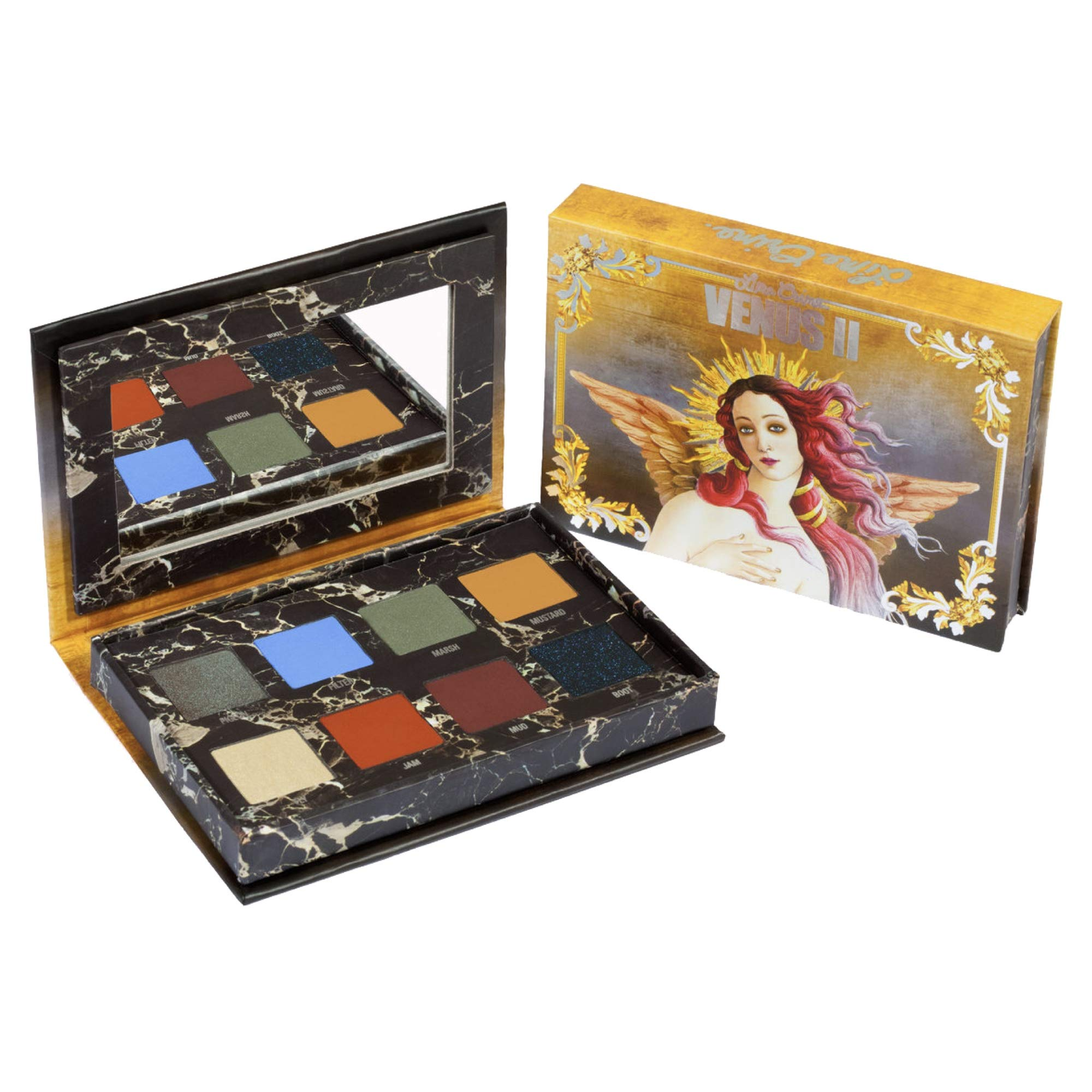 Lime Crime Venus II Eyeshadow Palette - 8 Full Sized Matte and Pearl Eyeshadows - Rich, Boldly Pigmented Shades in a Mix of Cool and Warm Hues - Mirrored Box - Vegan