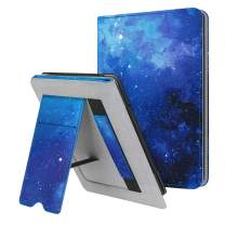 Fintie Stand Case for Kindle Paperwhite (Fits All-New 10th Generation 2018 and All Paperwhite Generations) - Premium PU Leather Protective Sleeve Cover with Card Slot and Hand Strap, Starry Sky