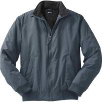 KingSize Men's Big & Tall Fleece-Lined Bomber Jacket