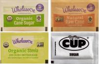 Wholesome Sugar Packet Variety - Organic Cane, Natural Raw Turbinado, Organic Stevia Zero Calorie Sweetener, By The Cup Sugar Packets - 50 Packets of Each (Pack of 200)