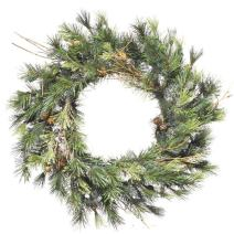 Vickerman Mixed Country Pine Wreath-Unlit, 16-Inch, Green