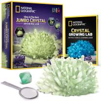 NATIONAL GEOGRAPHIC Jumbo Crystal Growing Kit - Grow a Giant Glow in the Dark Crystal in a Few Days with this Crystal Making Kit, Up To 3x Larger Than Our Standard Crystals, Great Science Kit for Kids