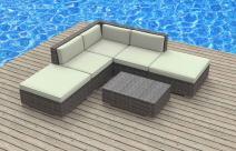 UrbanFurnishing.net 3N-C1R8-MZ64 6 Piece Modern Patio Furniture Sofa Sectional Couch Set