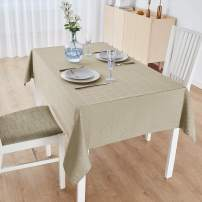 M Morefeel Artlavie RectangularTablecloth 52x70, Waterproof Fall Tablecloth for Rectangle Tables, Dining Room, Outdoor, Machine Washable Table Cover (Beige)