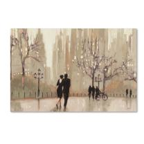 An Evening Out Neutral Artwork by Julia Purinton, 12 by 19-Inch Canvas Wall Art