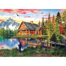TOCARE 5D Diamond Painting Kits for Adults Kids 20X16Inch/50x40cm Painting by Numbers Kits Full Drill Home Wall Art Decor,Fishing Cabin