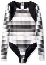 Seafolly Girls' Long Sleeve One Piece Swimsuit with Zip Back
