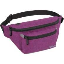 Fanny Pack for Men Women - Waist Bag Pack - Lightweight Belt Bag for Travel Sports Hiking